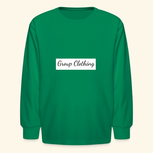 Cursive Black and White Hoodie - Kids' Long Sleeve T-Shirt