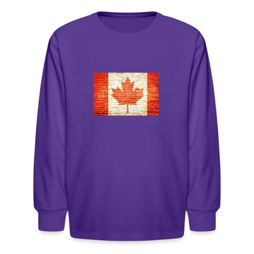 Canada flag - Kids' Long Sleeve T-Shirt
