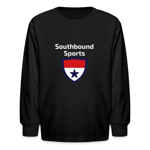 The Southbound Sports Shield Logo. - Kids' Long Sleeve T-Shirt