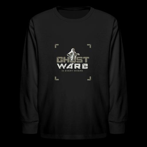 Ghostware Square Logo - Kids' Long Sleeve T-Shirt