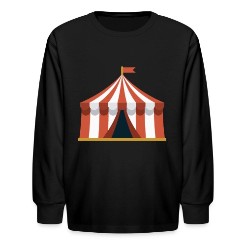 Striped Circus Tent - Kids' Long Sleeve T-Shirt