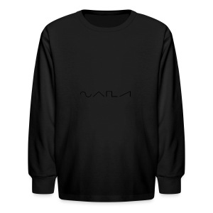 Waveforms_-1- - Kids' Long Sleeve T-Shirt