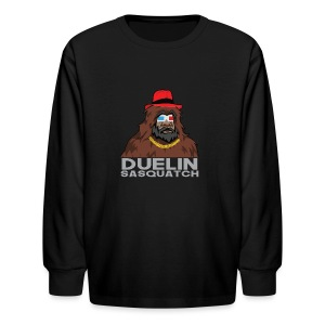 Duelin Sasquatch - Kids' Long Sleeve T-Shirt