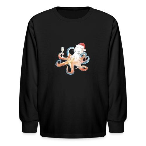 Christmas cephalopod - Kids' Long Sleeve T-Shirt