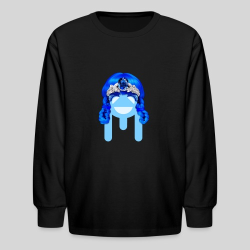 ALIENS WITH WIGS - #TeamMu - Kids' Long Sleeve T-Shirt