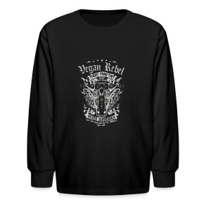 Vegan Rebel - Kids' Long Sleeve T-Shirt