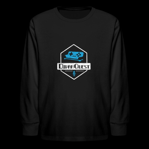 DivanQuest Logo (Badge) - Kids' Long Sleeve T-Shirt