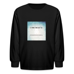 I do more than try - Kids' Long Sleeve T-Shirt