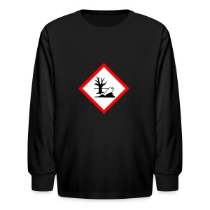 danger for the environment - Kids' Long Sleeve T-Shirt