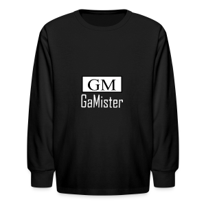 gamister_shirt_design_1_back - Kids' Long Sleeve T-Shirt