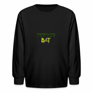 New Trojan Bat Logo - Kids' Long Sleeve T-Shirt