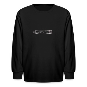 Safety Pin - Kids' Long Sleeve T-Shirt
