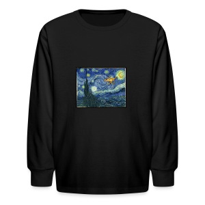 Starry Night Drone - Kids' Long Sleeve T-Shirt