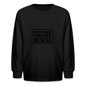 Military Grade Muscle Black - Kids' Long Sleeve T-Shirt
