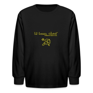 Full Li Huan Chao Logo Black+Yellow - Kids' Long Sleeve T-Shirt