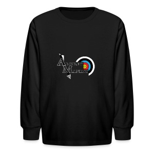 Archery Maniacs White Outline - Kids' Long Sleeve T-Shirt