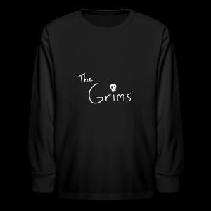 The Grims Logo - Kids' Long Sleeve T-Shirt