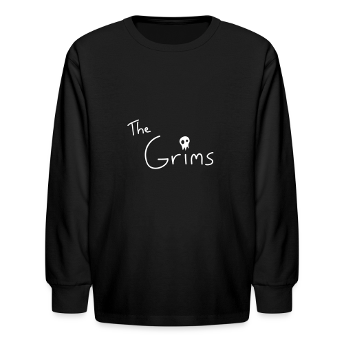 The Grims Logo - Kids' Long Sleeve T-Shirt