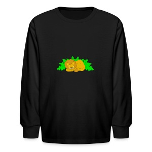 Sleeping Lion - Kids' Long Sleeve T-Shirt