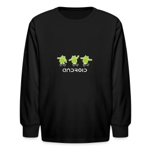 android logo T shirt - Kids' Long Sleeve T-Shirt