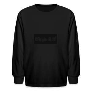 AlexPlaysgames and stuff design - Kids' Long Sleeve T-Shirt