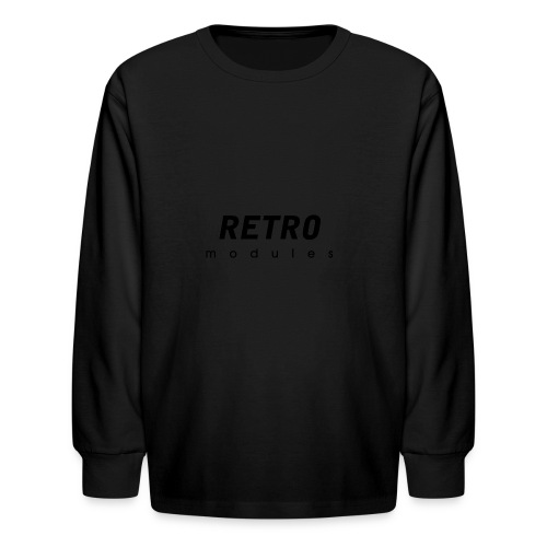 Retro Modules - sans frame - Kids' Long Sleeve T-Shirt