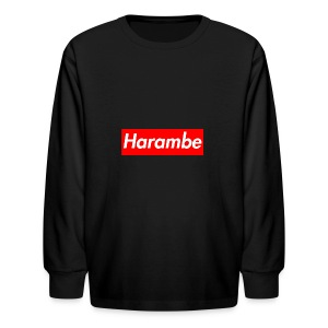 Harambe x Supreme Box Logo - Kids' Long Sleeve T-Shirt