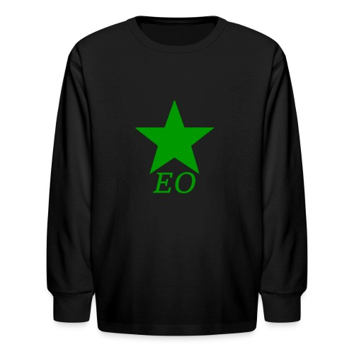 EO and Green Star - Kids' Long Sleeve T-Shirt