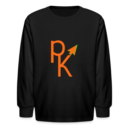 Plusklix Logo - Kids' Long Sleeve T-Shirt
