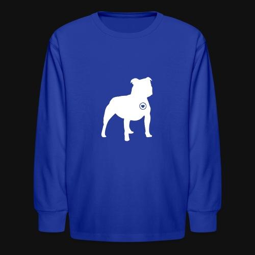 Staffy love - Kids' Long Sleeve T-Shirt