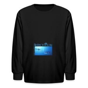 Respect The Shark - Kids' Long Sleeve T-Shirt