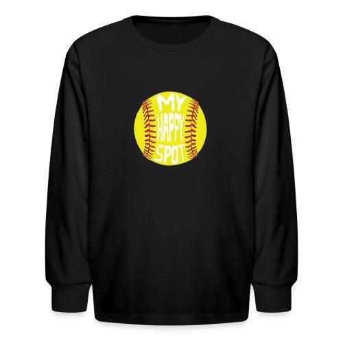 People s Republic of Burlington Softball - Kids' Long Sleeve T-Shirt