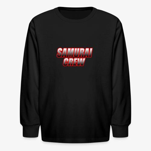 SamuraiCrew logo - Kids' Long Sleeve T-Shirt