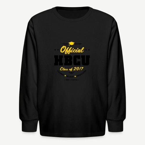 Official HBCU Class of 2017 Grad - Kids' Long Sleeve T-Shirt