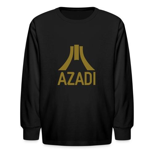 Azadi retro stripes - Kids' Long Sleeve T-Shirt