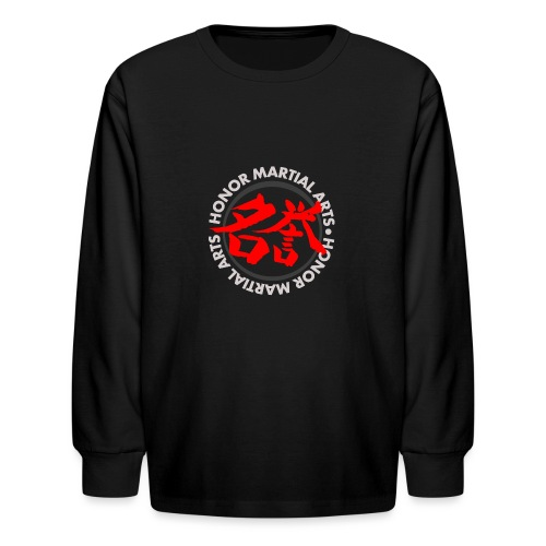 Honor Martial Arts Kanji Design Light Shirts - Kids' Long Sleeve T-Shirt