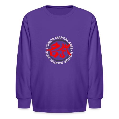 Honor Martial Arts Kanji Design Light Shirts - Kids' Long Sleeve T-Shirt