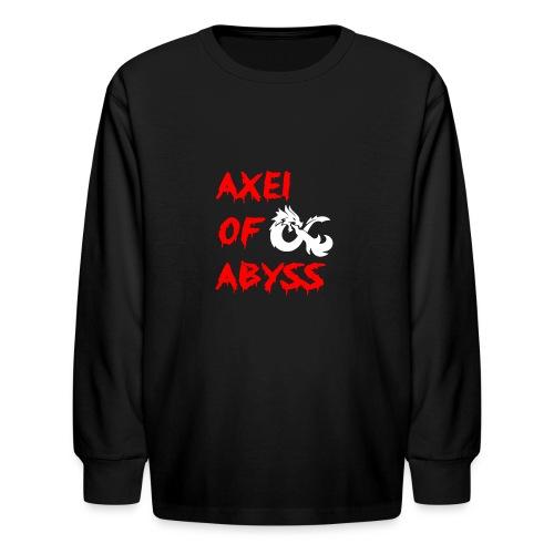 Axelofabyss dragon shirt - Kids' Long Sleeve T-Shirt
