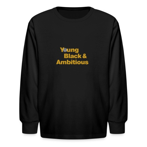 YBA Black and Gold Shirt2 - Kids' Long Sleeve T-Shirt
