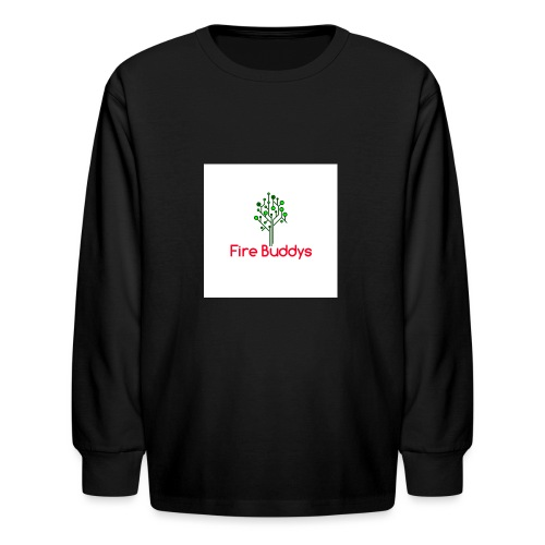 Fire Buddys Website Logo White Tee-shirt eco - Kids' Long Sleeve T-Shirt