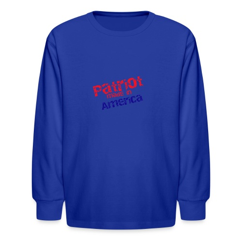 Patriot mug - Kids' Long Sleeve T-Shirt