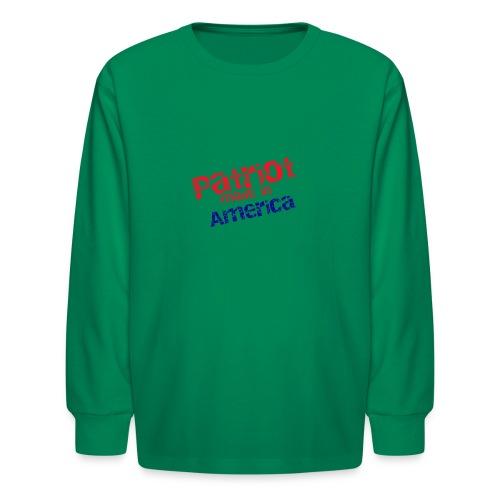 Patriot mug - Kids' Long Sleeve T-Shirt