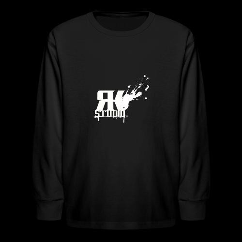 RKStudio White Logo Version - Kids' Long Sleeve T-Shirt