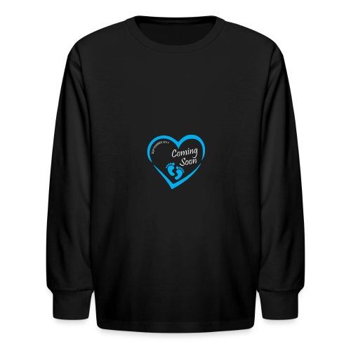 Baby coming soon - Kids' Long Sleeve T-Shirt