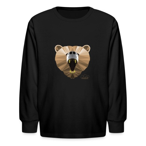 Hungry Bear Women's V-Neck T-Shirt - Kids' Long Sleeve T-Shirt