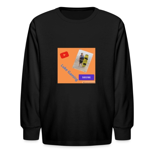 Luke Gaming T-Shirt - Kids' Long Sleeve T-Shirt