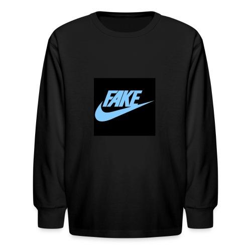 fake Nikes - Kids' Long Sleeve T-Shirt