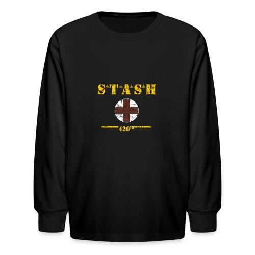 STASH-Final - Kids' Long Sleeve T-Shirt