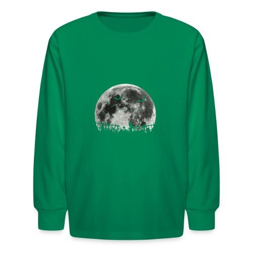 Scary Halloween moon - Kids' Long Sleeve T-Shirt