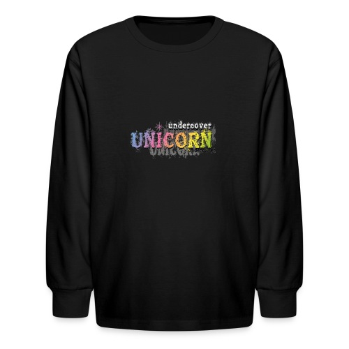 Undercover Unicorn - Kids' Long Sleeve T-Shirt